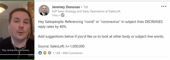 coronavirus in email